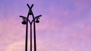 English Lutheran Church Bells at Sunset